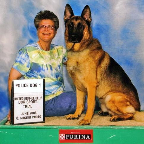 "Carole Field & German Shepherd ""Nicky"""